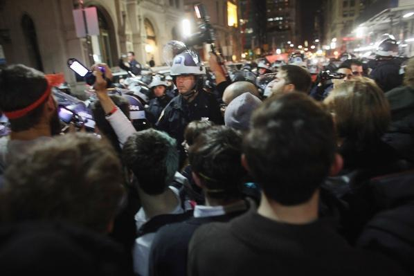Police Move In To Clear Occupy Wall Street Camp In Zuccotti Park | Civility & Brutality | The 20th Century Since 1945: Civil Rights & the New Millennium
