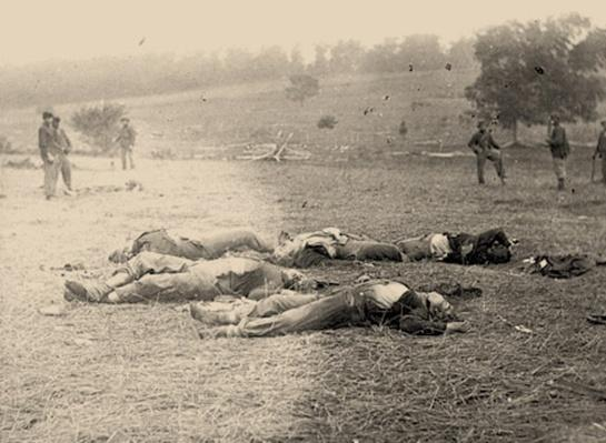 Federal Dead on the Field of Battle, Gettysburg | Ken Burns: The Civil War