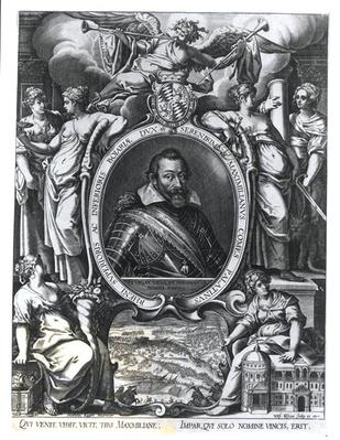 Portrait of Maximilian I of Bavaria, engraved by Wolfgang Kilian