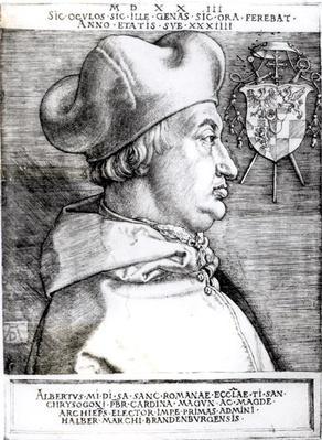 Portrait of Albert, Cardinal Elector of Mainz, 1523