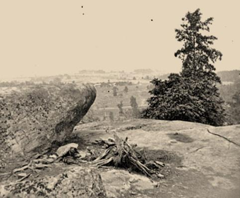 Federal Position, Viewed from Little Round Top | Ken Burns: The Civil War