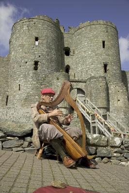 Bargoed the Welsh Harpist, Harlech Castle, Gwynedd, Wales | Musical Instruments