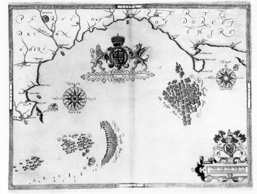 Map No.5 Showing the route of the Armada fleet, engraved by Augustine Ryther, 1588