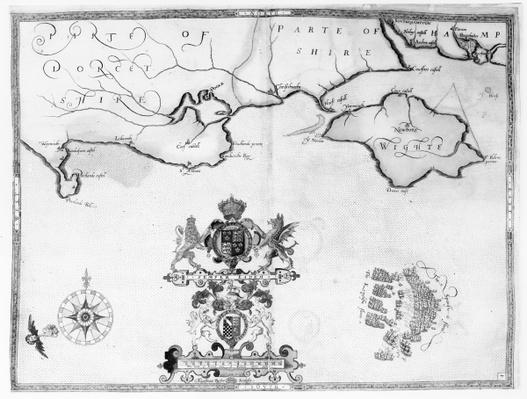 Map No.7 showing the route of the Armada fleet, engraved by Augustine Ryther, 1588