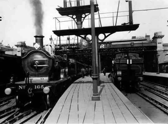 Steam Trains in Charing Cross Station, c.1913