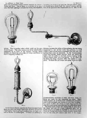 Diagrams of lightbulbs and their brackets