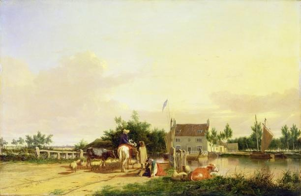Buckenham Ferry on the River Yare, Norfolk, 1826