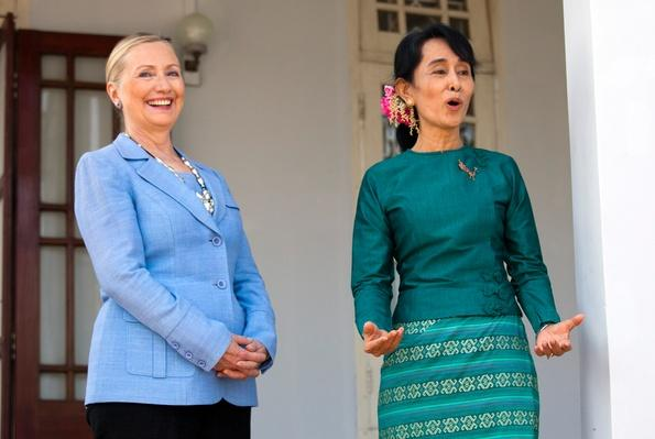 U.S. Secretary of State Clinton Makes Historic Trip To Myanmar | Conflicts: Burma