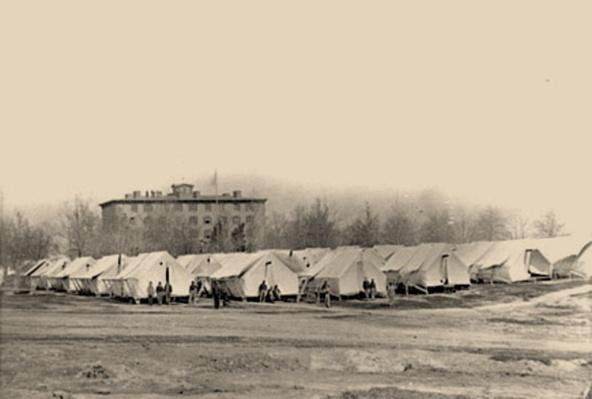 Hospital Tents In Rear of Douglas Hospital | Ken Burns: The Civil War