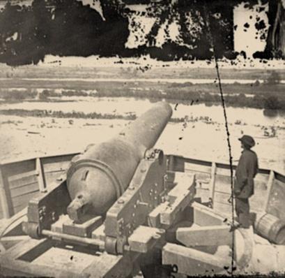 Confederate Gun Emplacement About Dutch Gap | Ken Burns: The Civil War