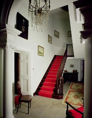 View of the hall and staircase, built 1774-c.1781