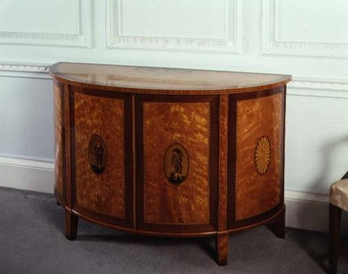 Workington commode, supplied by Gillows of Lancashire, 1785