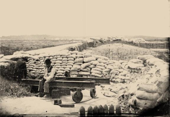 Confederate Sandbag Fortifications | Ken Burns: The Civil War