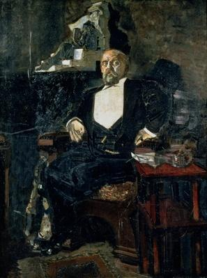 Portrait of S. Mamontov, the Founder of the First Private Opera, 1897