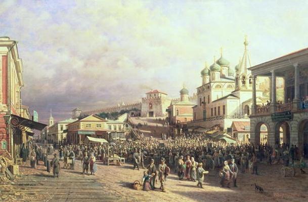 Market in Nishny, Novgorod, 1872