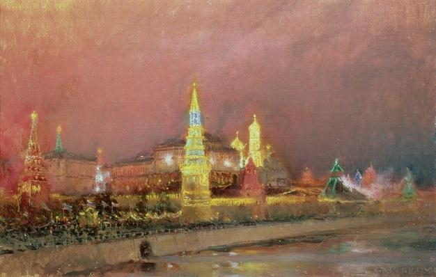 Illumination in the Kremlin, 1896