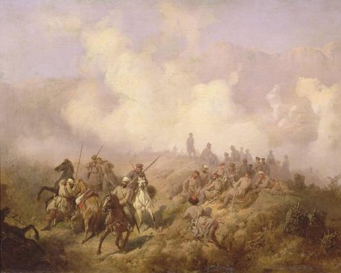 A Scene from the Russian-Turkish War in 1877-78, c.1870-80