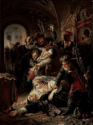 Hired Assassins Killing Tzar Boris Fyodorevich Godunov's Son, 1862