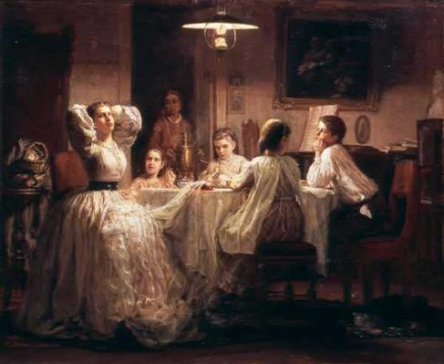 Sewing of the Dowry, 1866