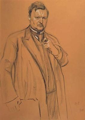 Portrait of the Composer Alekandr Konstantinovich Glazunov
