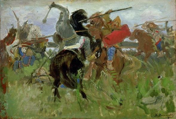 Battle between the Scythians and the Slavonians, 1879
