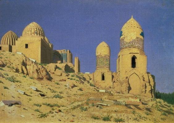 Hazreti Shakh-i-Zindeh Mausoleum in Samarkand, 1869-70