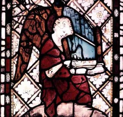 Angel Playing an Organ, c.1330