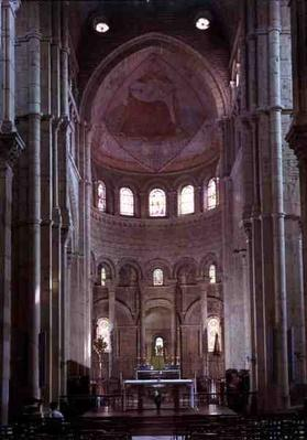 Interior view of the choir and apse
