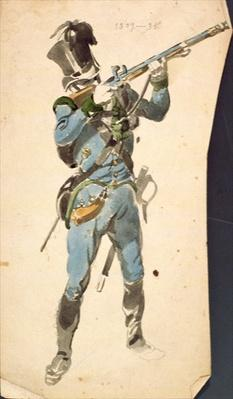 A Rifleman of the Austrian Jaegers, the Prestige Corp of a National Elite, 1835