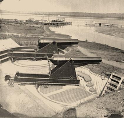 Artillery at Battery Rodgers, Alexandria, VA | Ken Burns: The Civil War