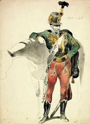 A Hussar of the 9th Regiment, Light Cavalry dress, 1835-48