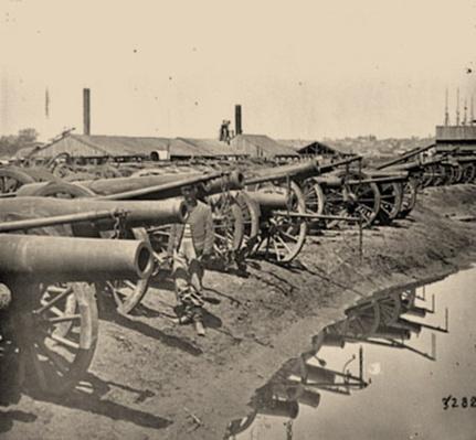 Captured Siege Guns At Rocketts | Ken Burns: The Civil War