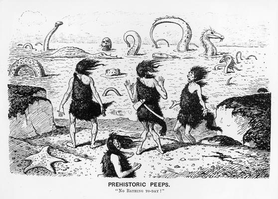 Prehistoric Peeps, 'No Bathing Today', 1884