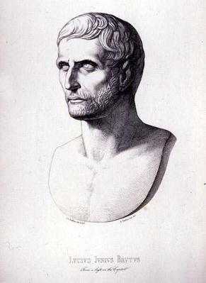 Portrait of Lucius Junius Brutus, engraved by B.Barloccini, 1849