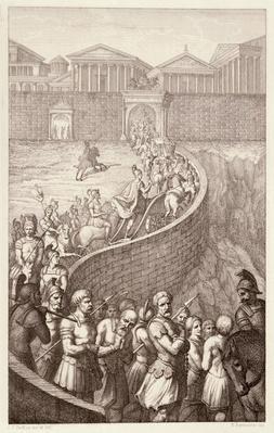 The Triumph of Quintus Fabius, engraved by B.Barloccini, 1849