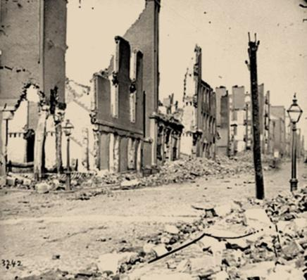 Street in the Burned District, Richmond, VA| Ken Burns: The Civil War