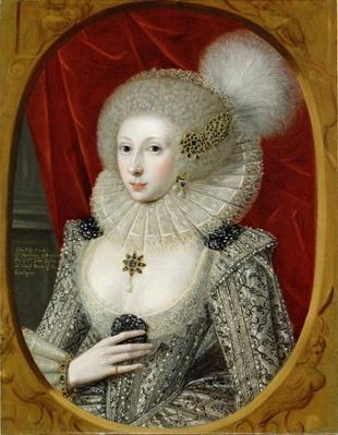 Portrait of a woman, possibly Frances Cotton, Lady Montagu, of Boughton Castle, Northamptonshire