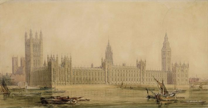 Perspective View of the new Houses of Parliament, c.1840s