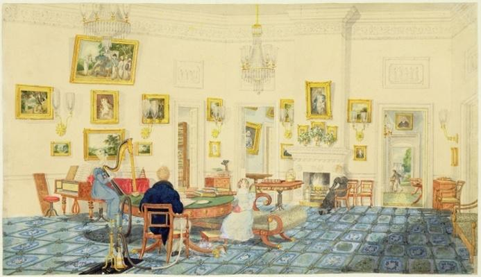 The Winter Room in the Artist's House at Patna, India, September 11, 1824