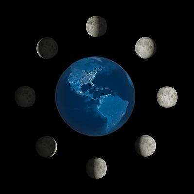 moon phases around the earth - photo #18
