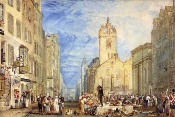High Street, Edinburgh, c.1818
