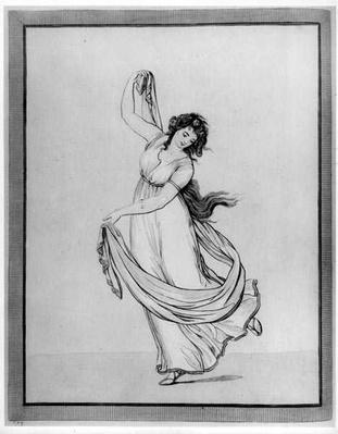 The Muse of Dance, Plate VI from 'Lady Hamilton's 'Attitudes': Drawings faithfully copied from nature', published by S.W.Fores, 1802