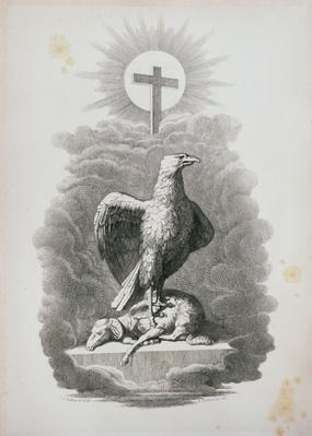 An Allegory of Rome, engraved by B.Barloccini, 1849