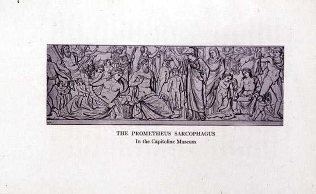 The Prometheus Sarcophagus, after the original in the Capitoline Museum