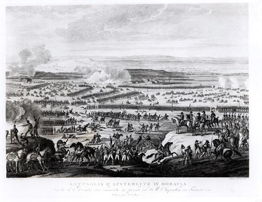 The Battle of Austerlitz in Moravia, 2 December 1805, engraved by Antonio Verico