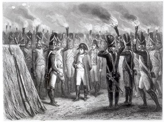 The Night Watch at Austerlitz, engraved by E. Giradel