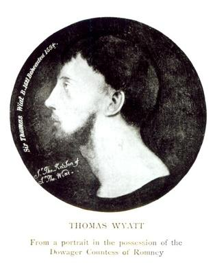 Medallion portrait of Sir Thomas Wyatt the Younger