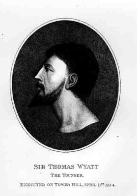 Portrait of Sir Thomas Wyatt the Younger
