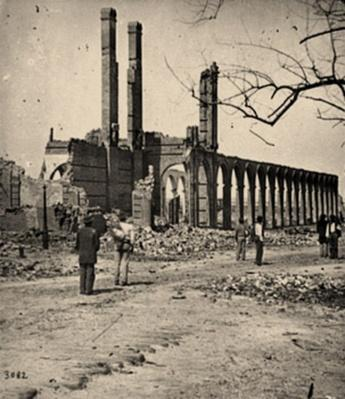 Ruins Of The North Eastern Railroad Depot | Ken Burns: The Civil War