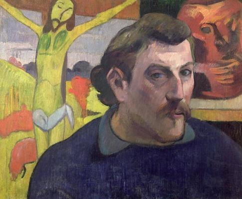 Self Portrait with the Yellow Christ, 1890
